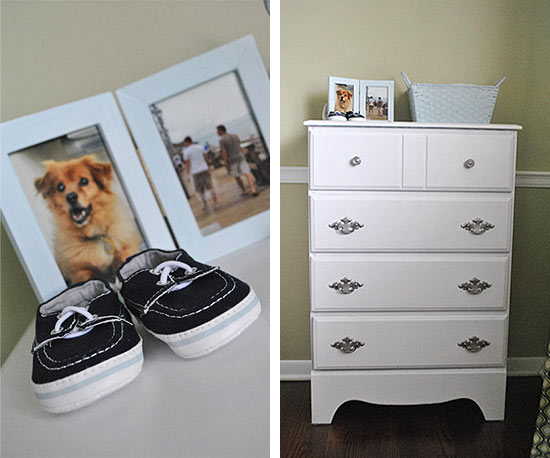 Baby dresser, baby shoes