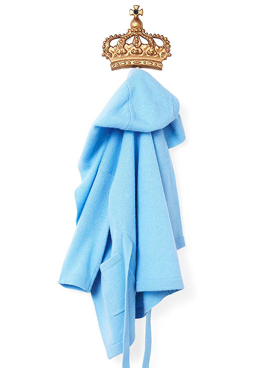 Robe on royal hook
