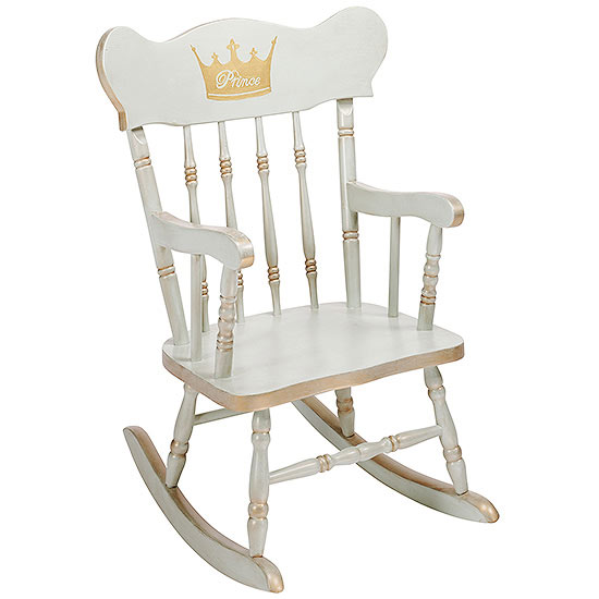 gold crown rocking chair