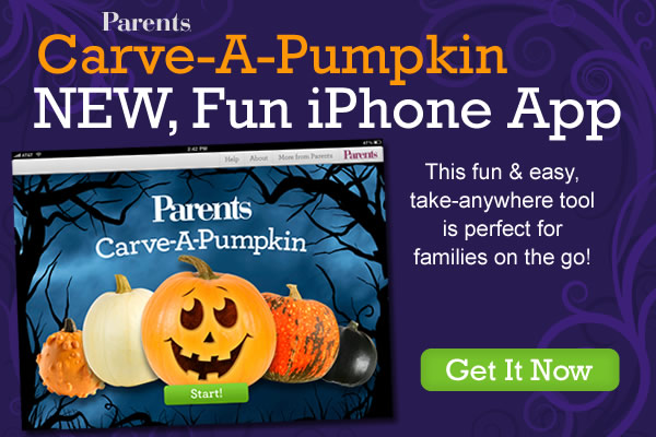 Parents Carve-A-Pumpkin App Splash Page