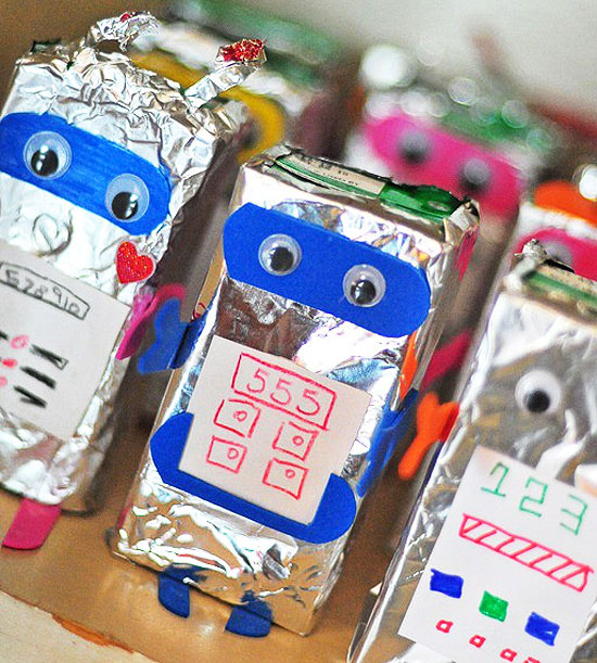 Robot Juice Boxes