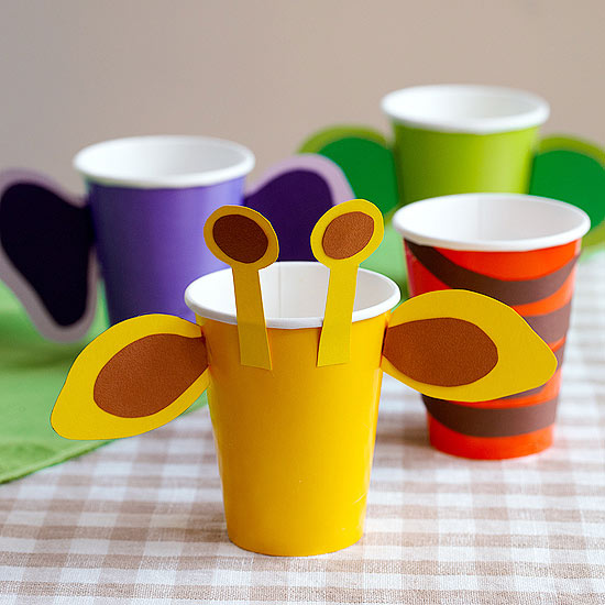 Zoo animal cups
