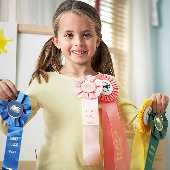 Girl with ribbons
