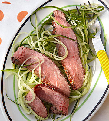 "Steak & Cucumber ""Noodle"" Toss"