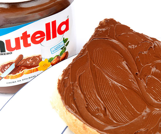 Nutella spread on bread