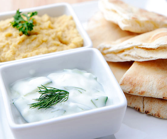 Pita and yogurt
