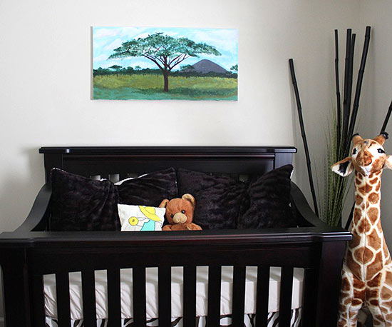 African safari crib