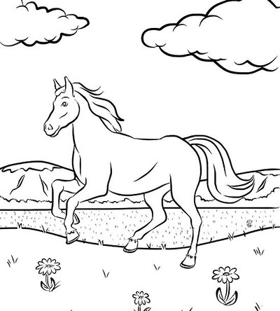 Free Horse Coloring Page | Parents
