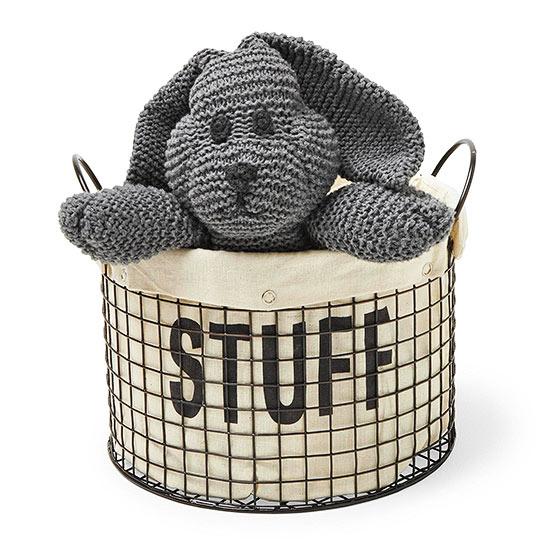 Basket with stuffed animal