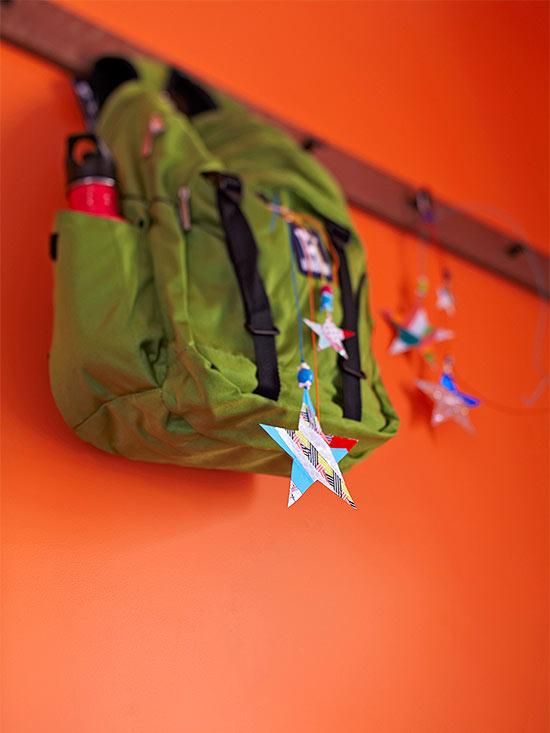 Backpack with star dangler