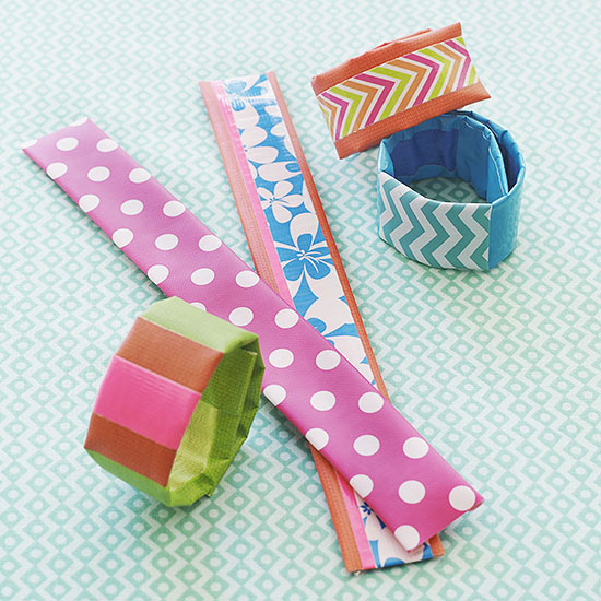 Slap bracelets covered in tape