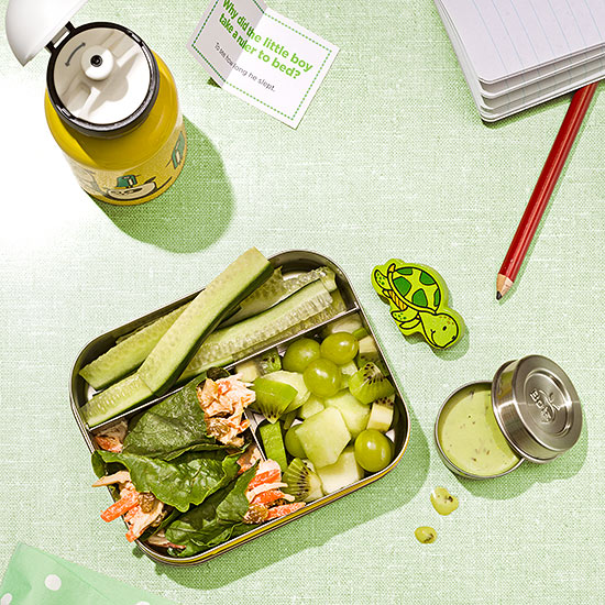 Make Them Laugh green-themed lunch