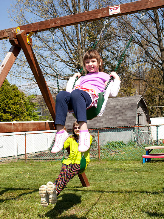 Morganne on swings