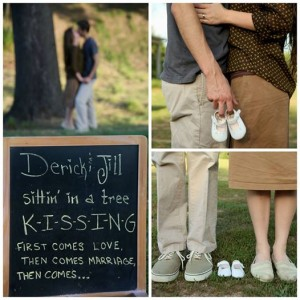 Jill and Derick Dillard pregnancy announcement photos