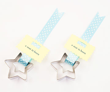 star cookie party favor