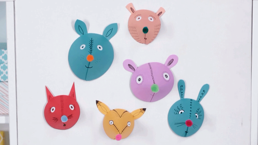 Kid Craft: Cute Paper Animal Heads