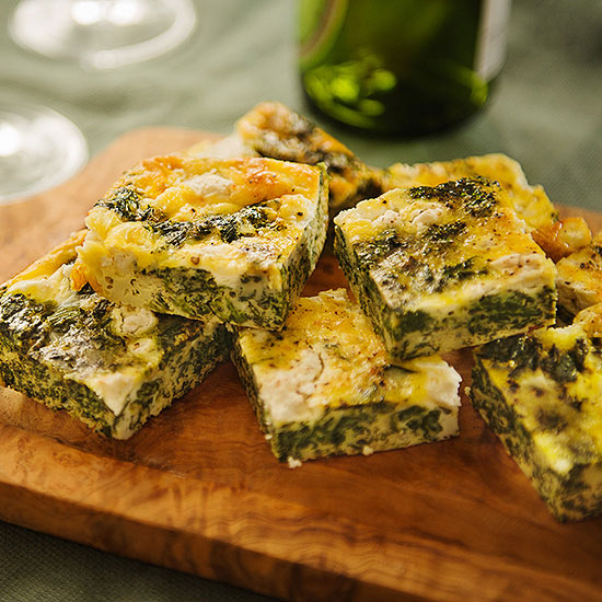 Spinach and Goat Cheese Frittata Bites