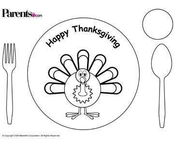 Thanksgiving placemats printable