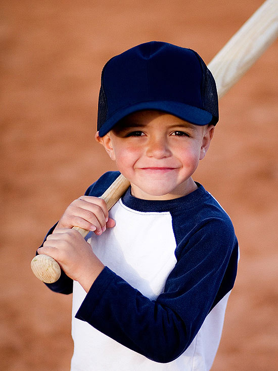 boy playing baseball