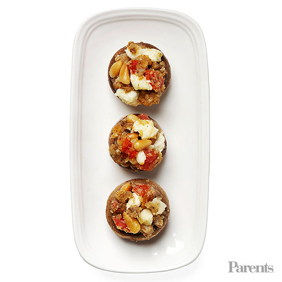Greek Stuffed Mushrooms
