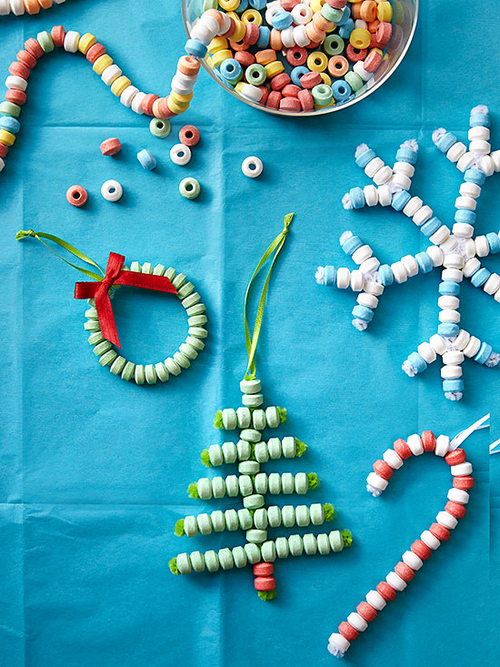 Beaded candy ornament