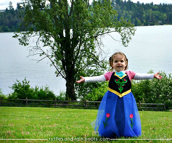 DIY Princess Anna dress