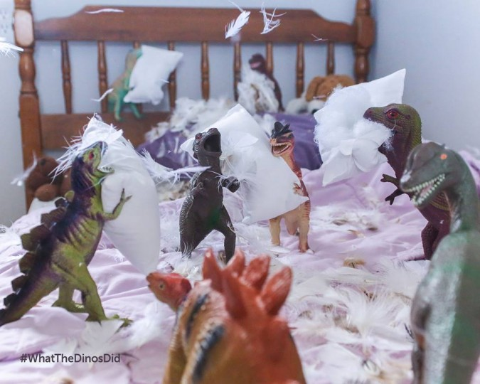 Here's How Two Parents Created #Dinovember...to Prank Their Kids 25494
