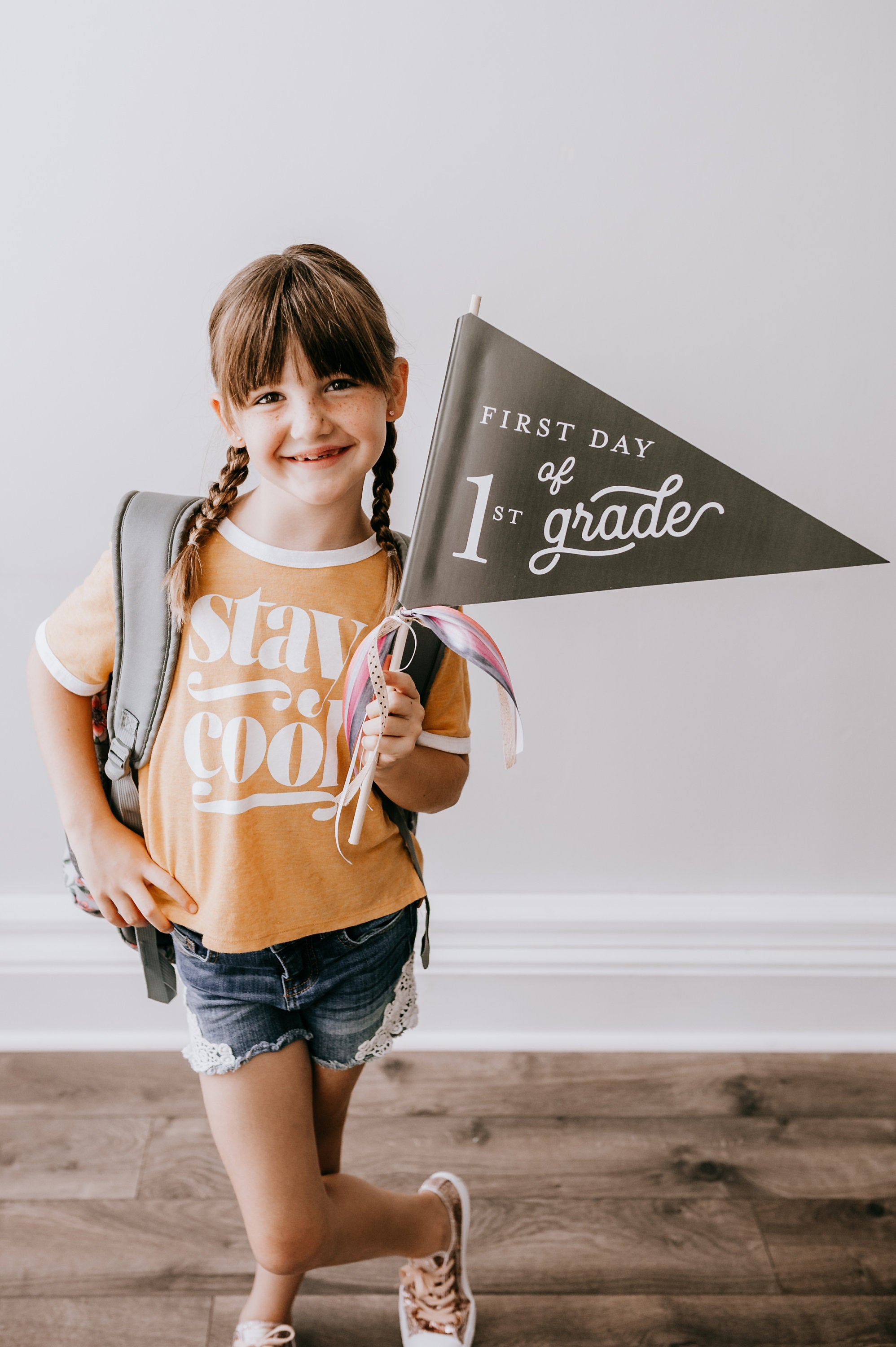 First Day of School Flag