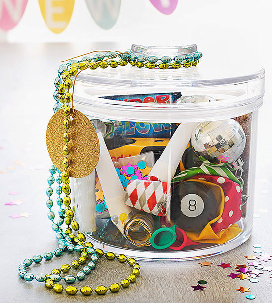 New Year's Eve party jar
