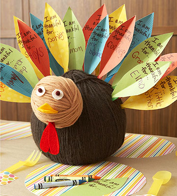 Paper Feather Turkey