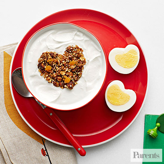 Heart-shaped granola