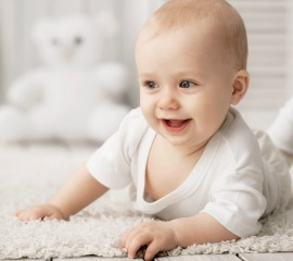 baby on new carpet
