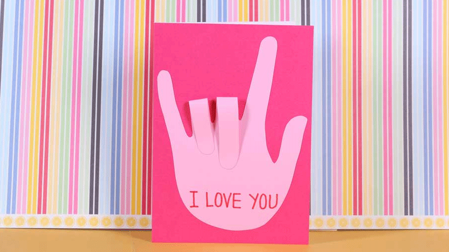 Sign Language Valentine's Day Card