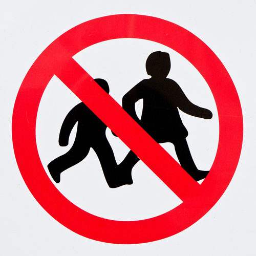 forbid children sign