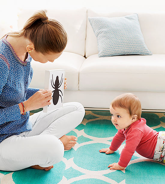 Mom and Baby looking at image