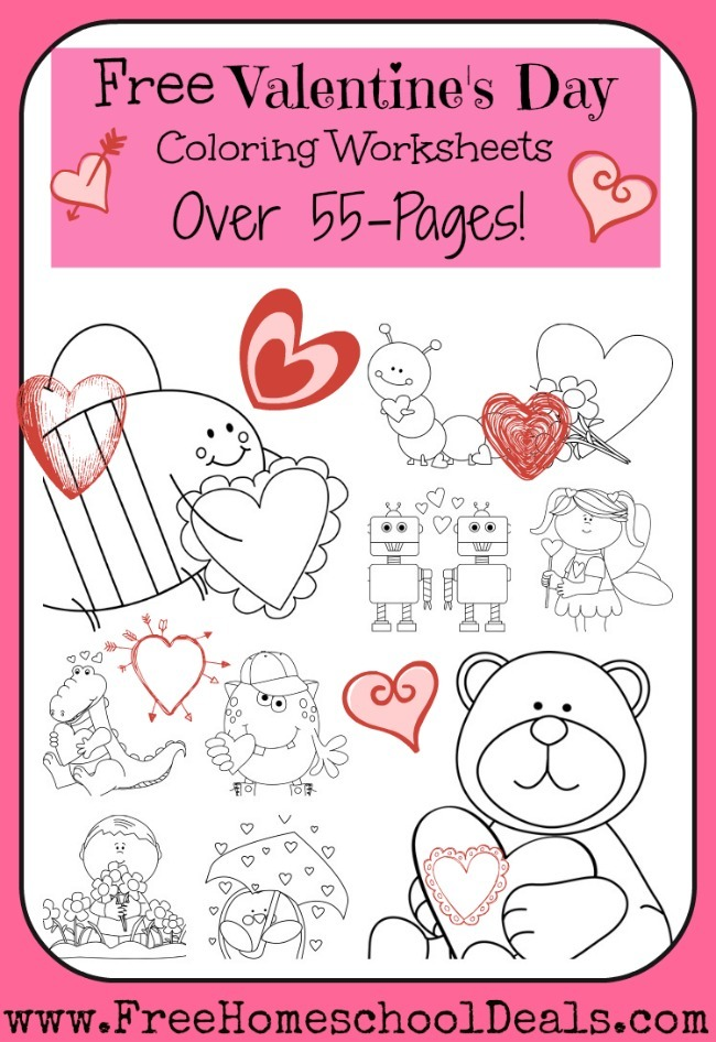 Free Valentines Day Coloring Worksheets