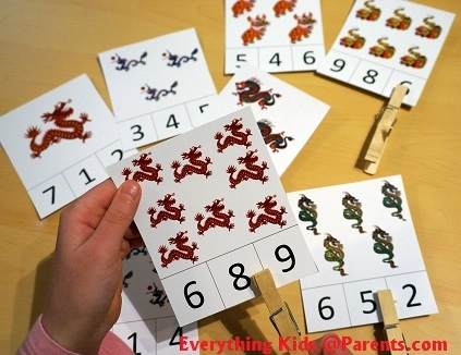 Counting - Clothes Pin Activity