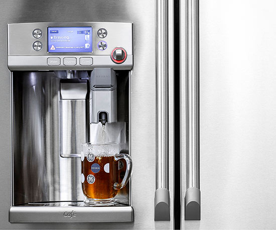 GE Café Series Refrigerator with Keurig K-Cup Brewing System