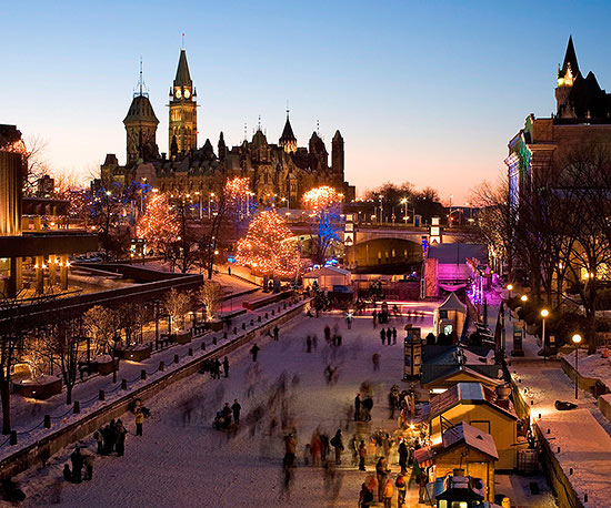 Rideau Canal Skateway and the National Gallery of Art Sculpture Garden Ice Rink