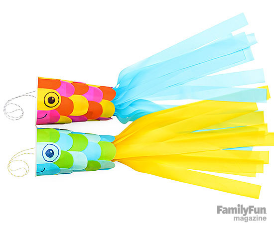 fish windsock crafts