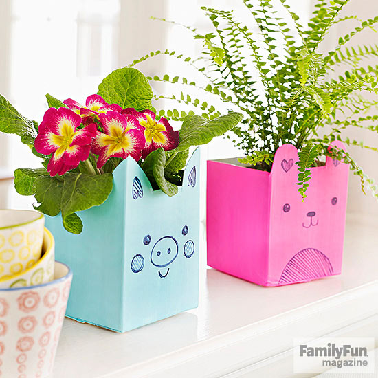 Milk carton plant holder