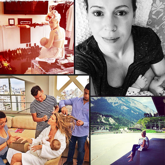 Celebrity Breastfeeding Selfies Comp