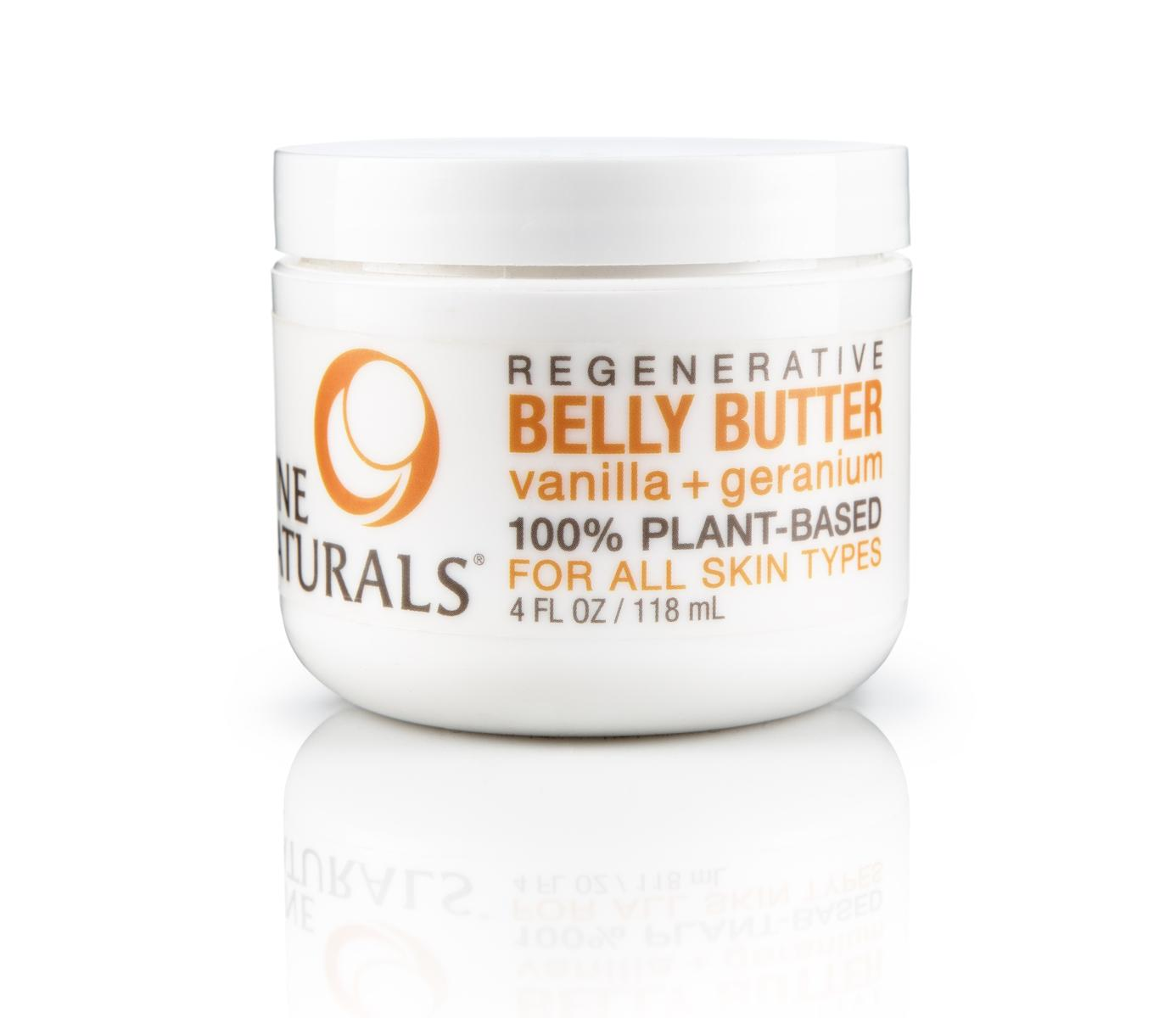 Nine Naturals Vanilla and Geranium Regenerative Pregnancy Belly Butter & Stretch Mark Cream