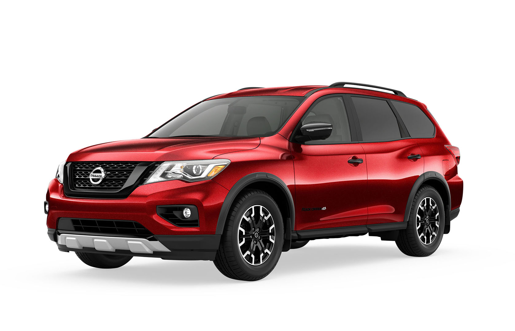 red nissan pathfinder sport utility vehicle