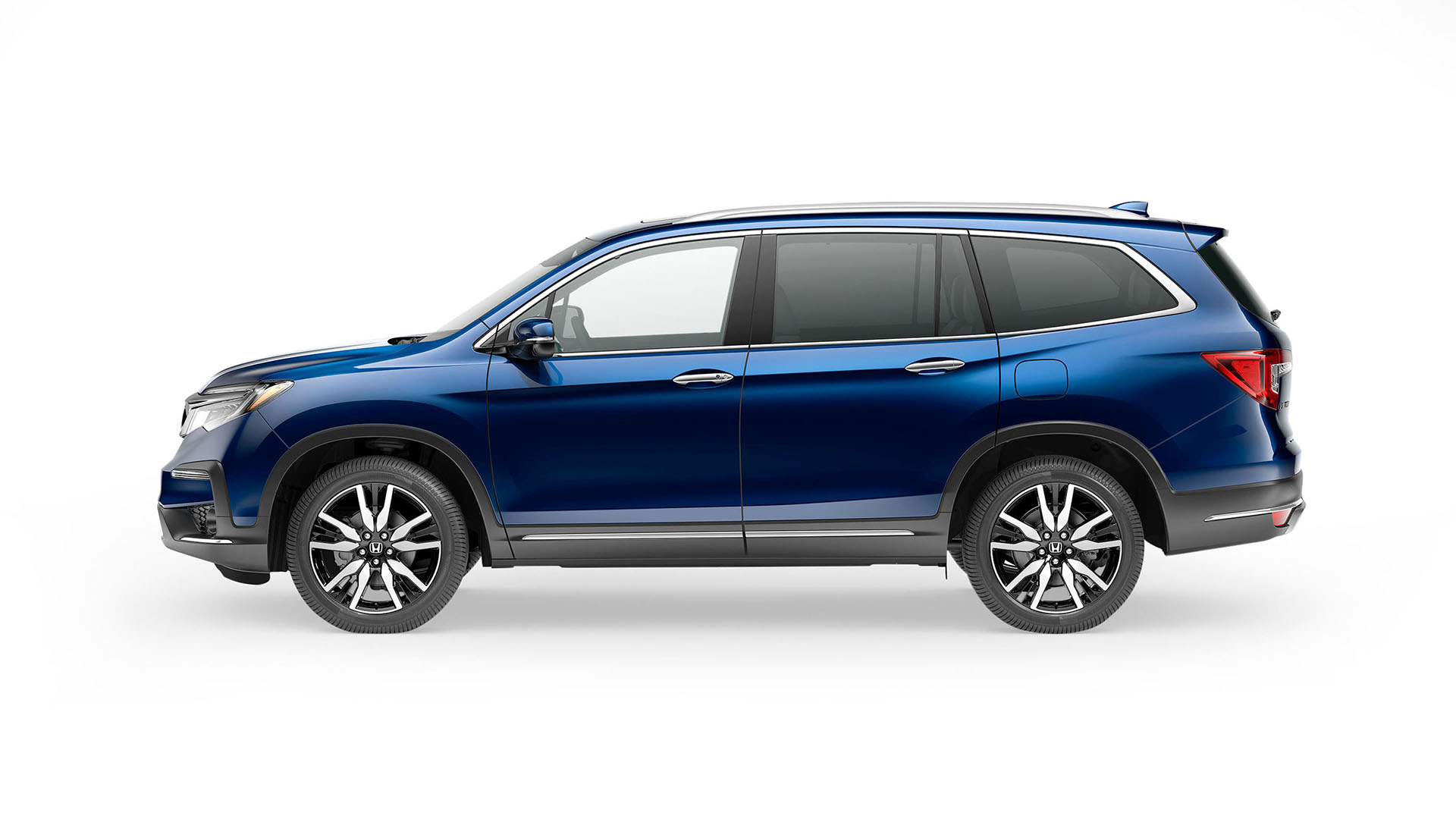 blue honda pilot sport utility vehicle