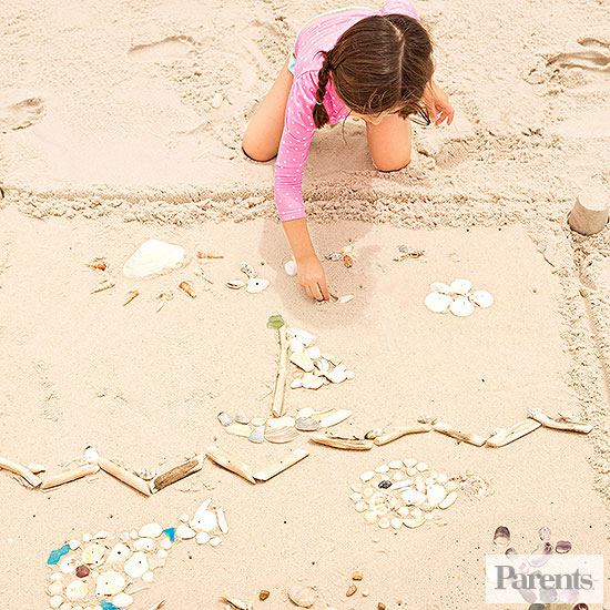 child playing Seashell game