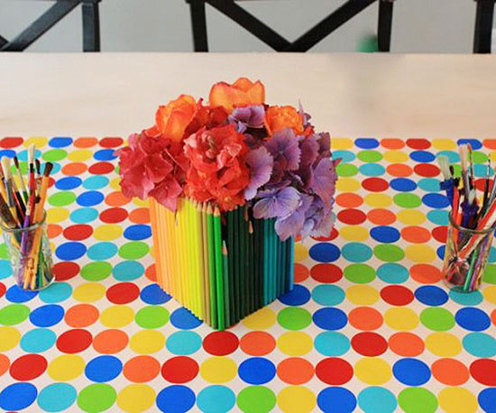 Colored Pencil Centerpieces