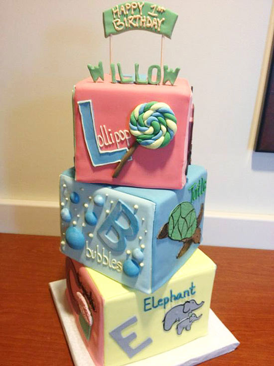 Willow Hart birthday cake