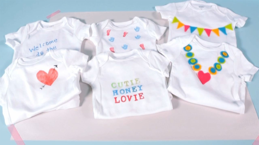 Baby Shower Ideas: How To Set Up A Onesie-Decorating Station
