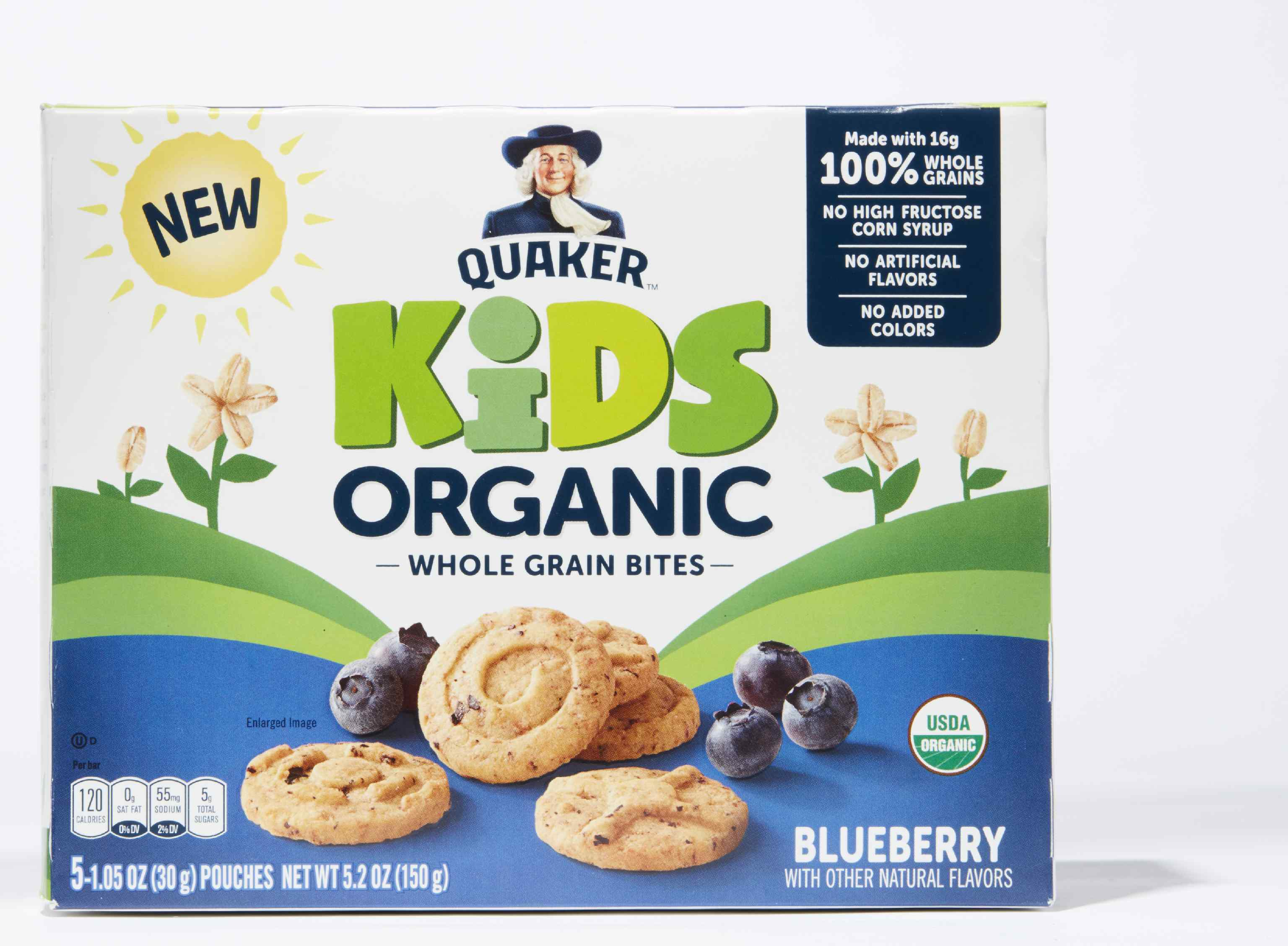 Quaker Kids Organic Blueberry Whole Grain Bites